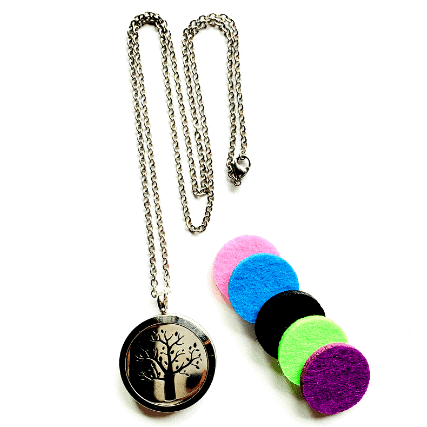 Aromatherapy Locket Necklaces with pads